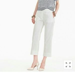 J. Crew Patio Pant in Eyelet NWT